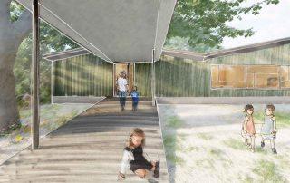Skizze Visualisierung Neubau Kindergarten Veltheim